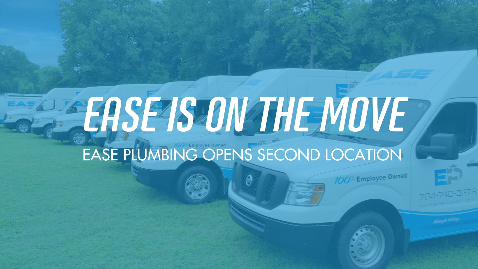 Ease Plumbing Opens A Second Location in Greenville, NC